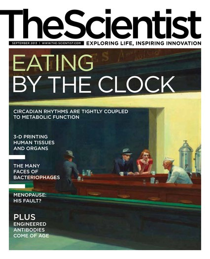 The Scientist September 2013 Cover