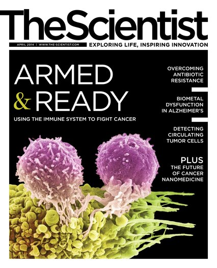 The Scientist April 2014 Cover