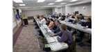 Attendees get down to business at the faculty workshops held at the JGI for training in bioinformatics and the IMG-ACT system.