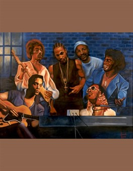 "Jam Session - 48"" x 36"", oil on canvas"