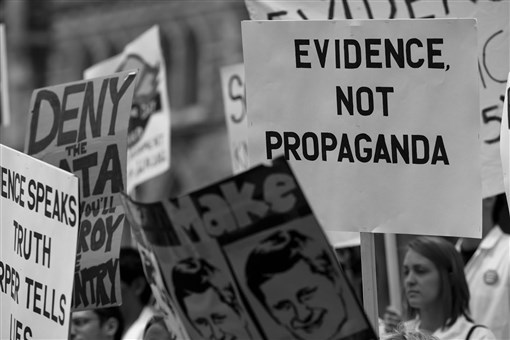 """""""Death of Evidence"""" march, Ottawa 2012"""