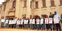 image: Indian Grad Students on Strike