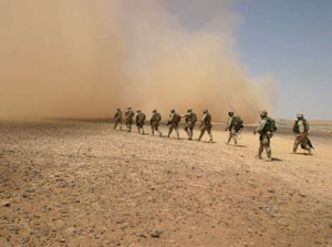 <figcaption>A dust cloud in Iraq.</figcaption>