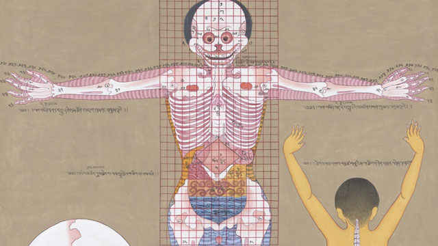 image: Tibetan medical paintings
