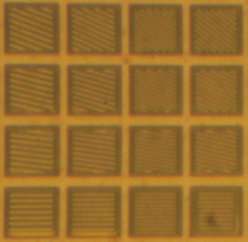 Individual PFCA pixels with metal grating
