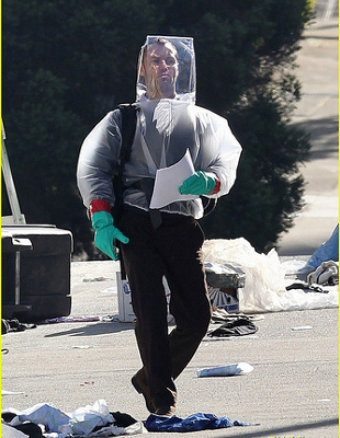 Jude Law's character, a nefarious blogger, roams the post-apocalyptic streets of San Francisco