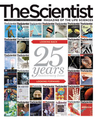 The Scientist 25th Anniversary Cover