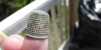 Thimble recovered from an English homestead. Roberta Estes