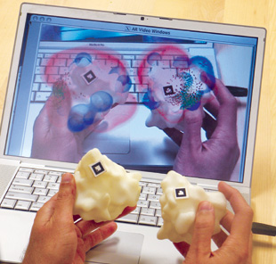 MATCHMAKER: Arthur Olson has designed an augmented reality application that lets users manipulate 3-D models in a whole new way.