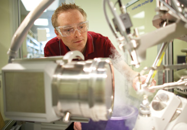 ATOMIC IMAGING AT LA JOLLA: Dirk Zajonc, a protein crystallographer and structural biologist at the La Jolla Institute for Allergy & Immunology (#6), studies cells at the atomic level to uncover new information about disease processes.