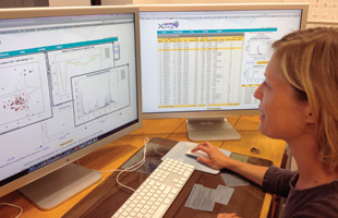 CRUNCHING LIPID MASS-SPECTROMETRY DATA: A Scripps Research Institute postdoc uses XCMS software, developed there, to analyze LC-MS data.