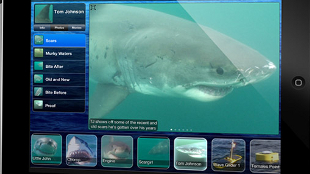 Screen shot of the Shark Net app