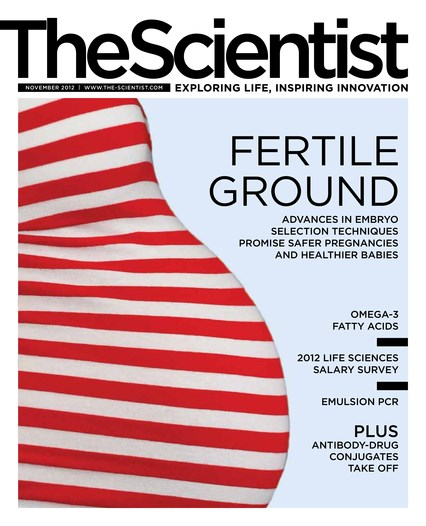 The Scientist November 2012 Cover