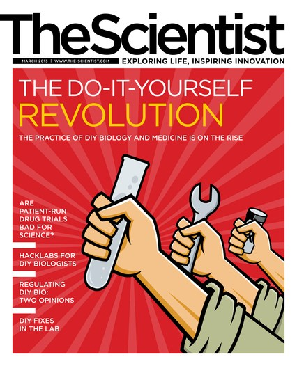 Magazine issue march 2013 the do it yourself revolution the the scientist march 2013 cover solutioingenieria Image collections