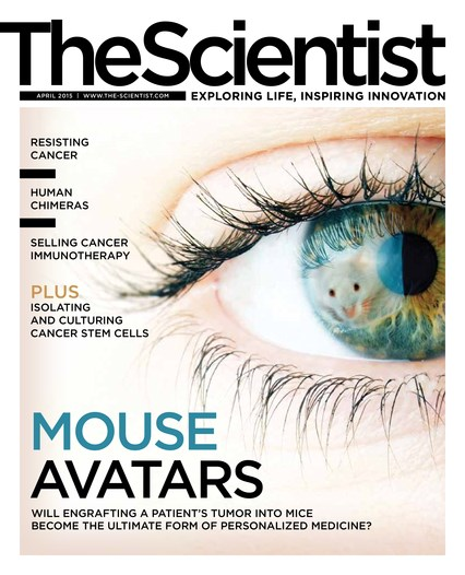 The Scientist April 2015 Cover
