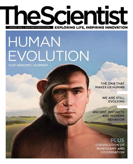 The Scientist August 2016 Cover